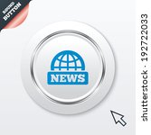 news sign icon. world globe...
