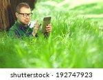 gadget freak concept. portrait...   Shutterstock . vector #192747923