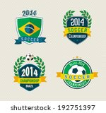 Set of vintage Brazil soccer champions labels. EPS10 vector organized in layers for easy editing.