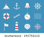 anchor,background,bell,blue,boat,buoy,chain,collection,compass,design,element,flag,flat,graphic,holiday