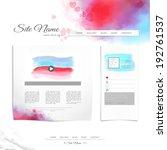 website vector template. hand... | Shutterstock .eps vector #192761537