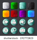 turquoise web icons collection. ... | Shutterstock .eps vector #192772823