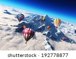 colorful hot air balloon's... | Shutterstock . vector #192778877