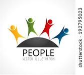 people design over white... | Shutterstock .eps vector #192795023