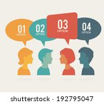people design over  beige... | Shutterstock .eps vector #192795047