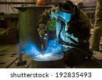 welder works in a factory in... | Shutterstock . vector #192835493