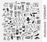 sketches  doodle style cartoon...   Shutterstock .eps vector #192846407