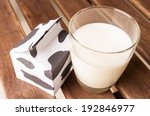 glass of milk  a carton of milk ... | Shutterstock . vector #192846977