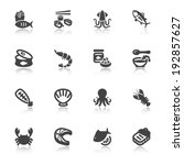 set of flat icons about seafood ... | Shutterstock .eps vector #192857627