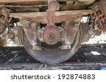 old freight train  metal... | Shutterstock . vector #192874883
