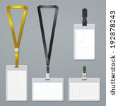 badge  clip and lanyard... | Shutterstock .eps vector #192878243
