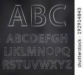vector sketched chalky alphabet ... | Shutterstock .eps vector #192914843