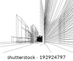 abstract architecture | Shutterstock .eps vector #192924797