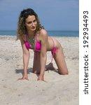 woman at the beach | Shutterstock . vector #192934493