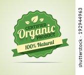 organic product badge. vector... | Shutterstock .eps vector #192944963