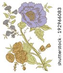 paisley floral design   Shutterstock .eps vector #192966083