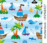 cute pirate's seamless pattern | Shutterstock .eps vector #192968327