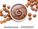 a cup of chocolate hazelnut... | Shutterstock . vector #192969257