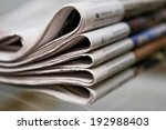 closeup of newspapers | Shutterstock . vector #192988403