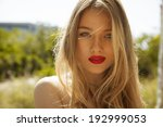 beautiful blonde female with... | Shutterstock . vector #192999053