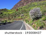 road along green mountain with... | Shutterstock . vector #193008437