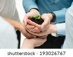 closeup of businesspeople hand... | Shutterstock . vector #193026767