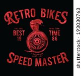 vintage race motorbike for printing.vector old school race poster.retro race car motorcycle set