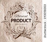 farm product hand drawing label.... | Shutterstock .eps vector #193058303