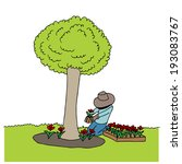 an image of man planting... | Shutterstock . vector #193083767