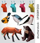 mosaic animals illustration. | Shutterstock .eps vector #193089203