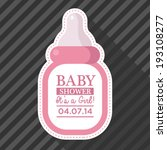 baby shower invitation with... | Shutterstock .eps vector #193108277