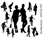 vector silhouette of a woman... | Shutterstock .eps vector #193131707