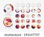 infographic elements pie chart... | Shutterstock .eps vector #193147757