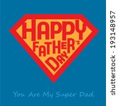 Greeting of Father's Day in diamond shaped