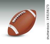 realistic football ball. vector ... | Shutterstock .eps vector #193158173