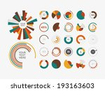 infographic elements.pie chart... | Shutterstock .eps vector #193163603