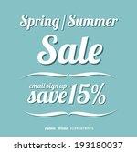 summer promotional design... | Shutterstock .eps vector #193180037