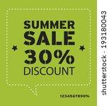 summer promotional design... | Shutterstock .eps vector #193180043