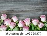 vertical border of pink roses... | Shutterstock . vector #193236377
