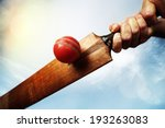 cricket batsman hitting a ball... | Shutterstock . vector #193263083