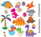 dinosaur vector illustration | Shutterstock .eps vector #193266443