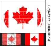 set scratched flag of canada on ... | Shutterstock .eps vector #193295147