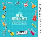 sticker music instruments... | Shutterstock .eps vector #193296017
