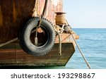 used tire as fender for old... | Shutterstock . vector #193298867