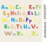 set of the color alphabet cut... | Shutterstock .eps vector #193315397