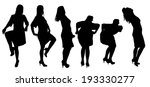 vector silhouette of a woman on ... | Shutterstock .eps vector #193330277
