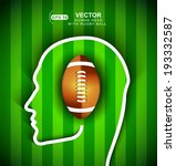 human head with rugby football... | Shutterstock .eps vector #193332587