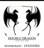 double black dragon with the...