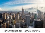 manhattan skyline at sunset ... | Shutterstock . vector #193340447