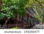 brownstone homes along... | Shutterstock . vector #193340477
